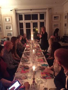 RED organised a supper club on behalf of South African Flavorking plums with MsMarmiteLover last week